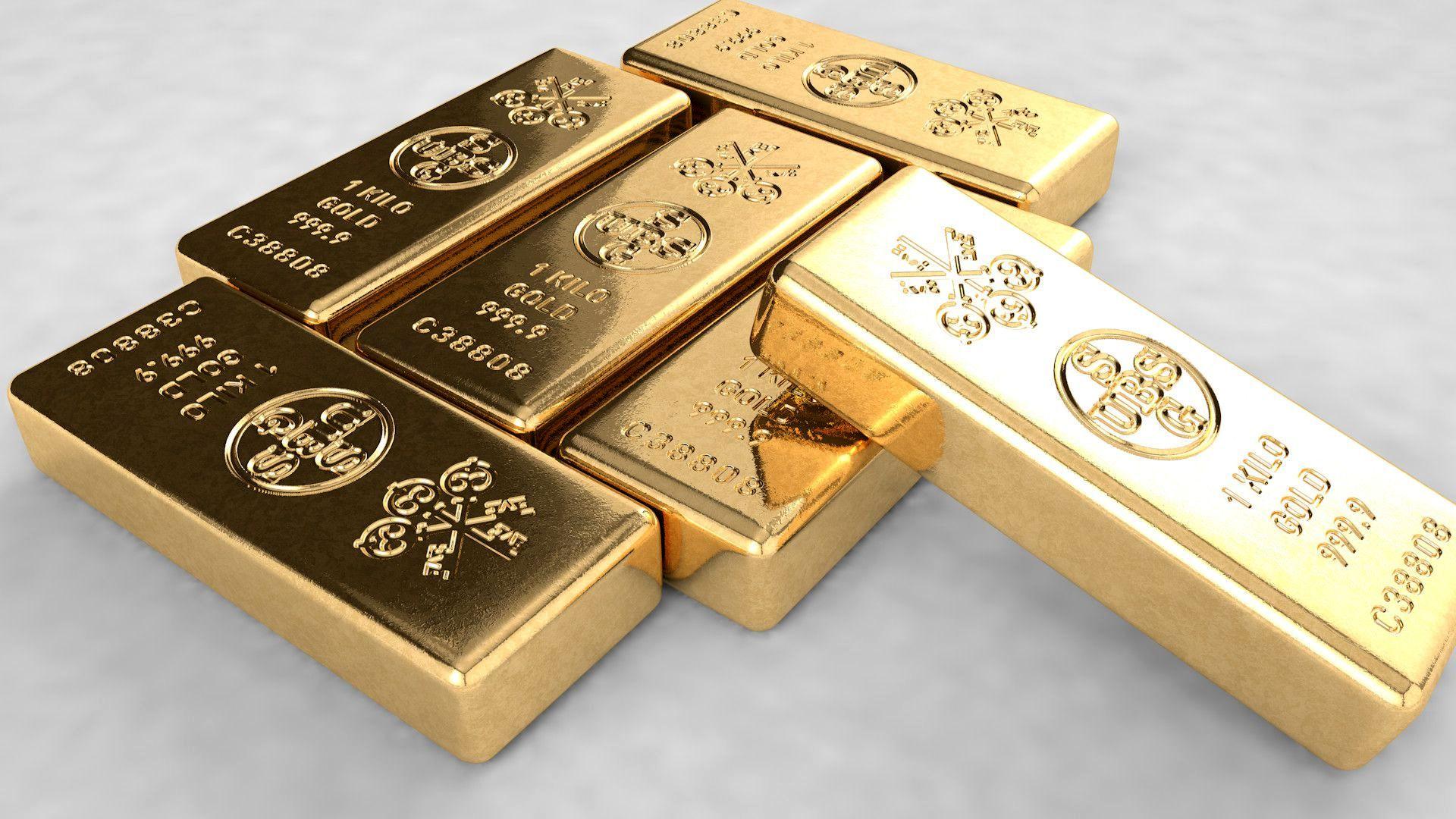 золото в слитках